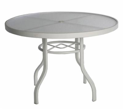 "Poolside Furniture - 48"" Round Acrylic Top Table"