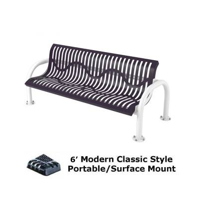 4' and 6' Modern Classic Bench - Portable/Surface and Inground Mount - Image 2