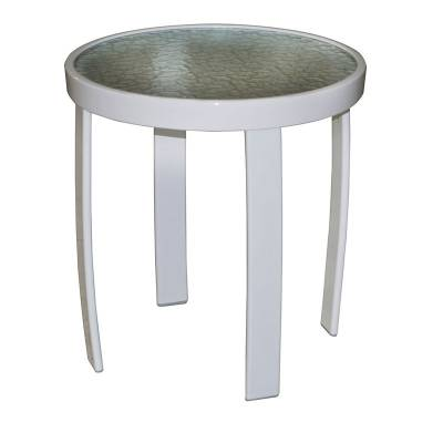 "Poolside Furniture - 18"" and 24"" Round Stacking Acrylic Top Side Table"