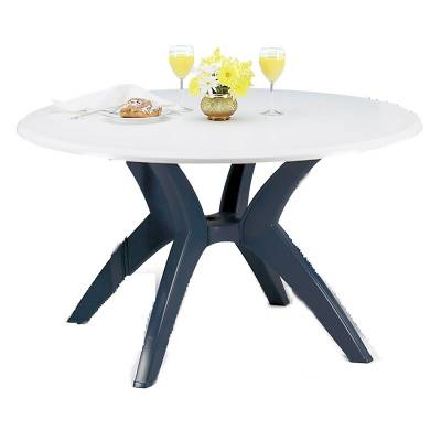 "Grosfillex Patio Furniture - Resin Tables - 48"" Round Melamine Table"