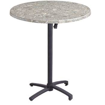 "Grosfillex Patio Furniture - 30"" Round Bar Height Table - Tilt Top."