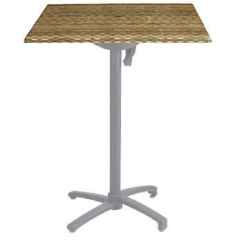 "Grosfillex Patio Furniture - 24"" Square Bar Height Table- Tilt Top."