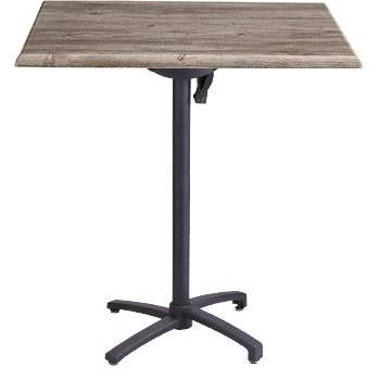 "Grosfillex Patio Furniture - 24"" x 32"" Rectangular Bar Height Table - Tilt Top."