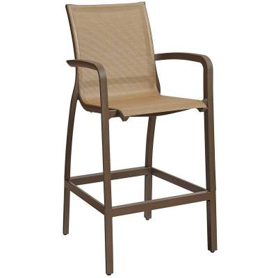 Grosfillex Patio Furniture - Bar Tables & Chairs - Sunset Sling Barstool