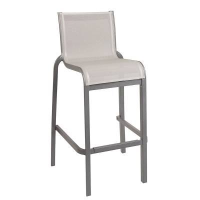 Grosfillex Patio Furniture - Bar Tables & Chairs - Sunset Sling Armless Barstool