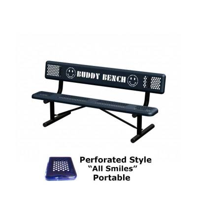 6' Perforated Buddy Bench - Portable, Surface and Inground Mount - Image 3