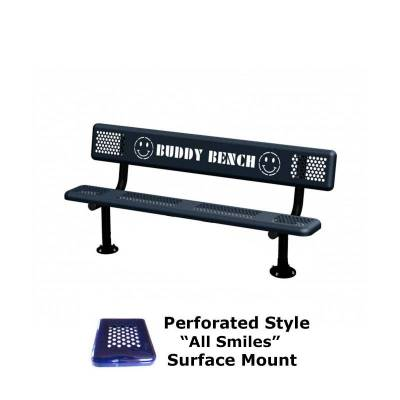 6' Perforated Buddy Bench - Portable, Surface and Inground Mount - Image 4