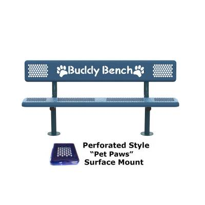 6' Perforated Buddy Bench - Portable, Surface and Inground Mount - Image 6