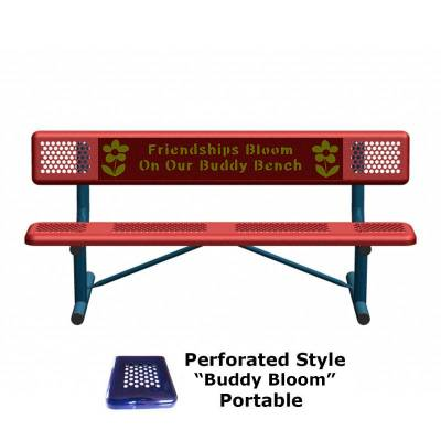 6' Perforated Buddy Bench - Portable, Surface and Inground Mount - Image 7