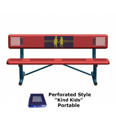 6' Perforated Buddy Bench - Portable, Surface and Inground Mount - Image 8