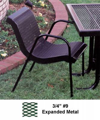 Picnic Tables - Patio Tables and Seating - Stack Chair with Arms