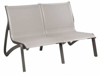 Grosfillex Patio Furniture - Sunset Sling - Sunset Sling Loveseat