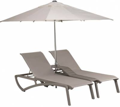 Sunset Sling Duo Chaise Lounge with Console - Image 2