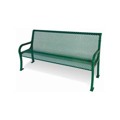 Park Benches - Thermoplastic Coated - 4' Lexington Bench - Portable/Surface Mount.