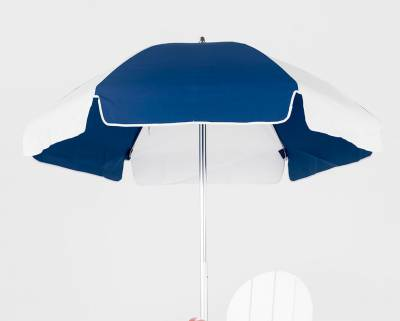 6 1/2 Ft. Lifeguard Flat Top Umbrella, Steel Ribs - Push Up Style without Tilt - Image 3