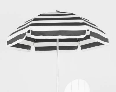 6 1/2 Ft. Lifeguard Flat Top Umbrella, Steel Ribs - Push Up Style with Tilt - Image 3