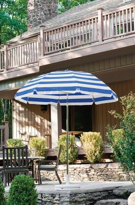 7 1/2 Ft. Flat Top Umbrella, Steel Ribs - Push Up Style without Tilt - Image 3