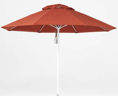 9 Ft. Monterey Aluminum Market Umbrella, Fiberglass Ribs - Pulley Lift - Image 2