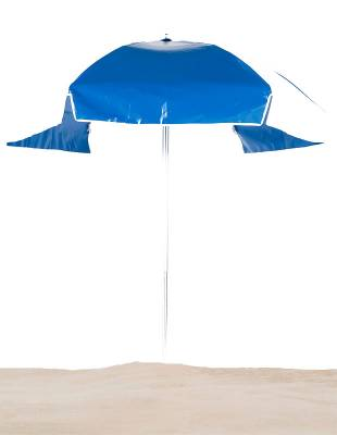 Emerald Coast 6 1/2 Ft. Flat Top Umbrella, Steel Ribs - Push Up Style without Tilt - Image 2
