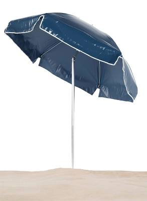 Emerald Coast 6 1/2 Ft. Flat Top Umbrella, Steel Ribs - Push Up Style with Tilt - Image 1