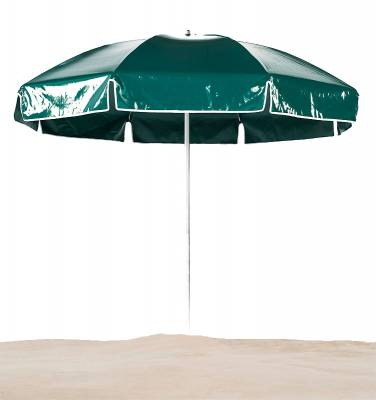 Umbrellas & Bases - Beach Umbrellas - Emerald Coast 7 1/2 Ft. Flat Top Umbrella, Steel Ribs - Push Up Style without Tilt