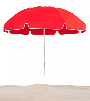 7 1/2 Ft. Flat Top Umbrella, Steel Ribs - Push Up Style without Tilt - Image 2