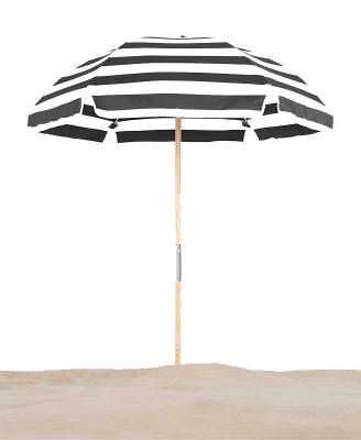 Avalon 6 1/2 Ft. Wood Beach Umbrella, Fiberglass Ribs - Image 2