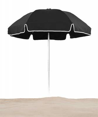 Umbrellas & Bases - Beach Umbrellas - Avalon 6 1/2 Ft. Flat Top Umbrella, Fiberglass Ribs - Push Up Style without Tilt