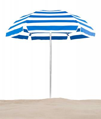 Avalon 6 1/2 Ft. Flat Top Umbrella, Fiberglass Ribs - Push Up Style with Tilt - Image 2