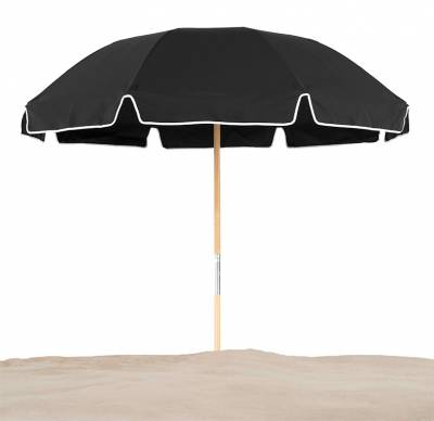 Avalon 7 1/2 Ft. Wood Beach Umbrella, Fiberglass Ribs - Image 1