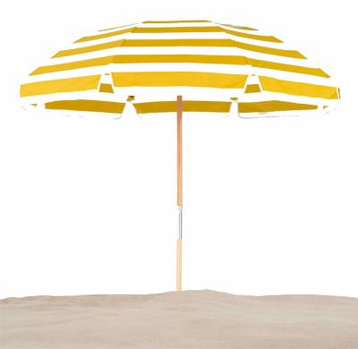 Avalon 7 1/2 Ft. Wood Beach Umbrella, Fiberglass Ribs - Image 2