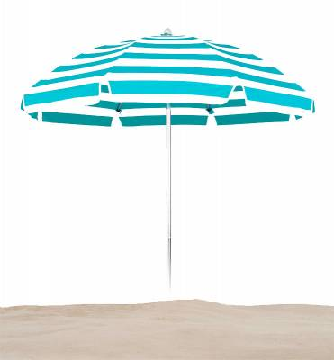 7 1/2 Ft. Flat Top Umbrella, Fiberglass Ribs - Push Up Style without Tilt - Image 1