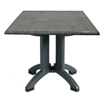 "Grosfillex Patio Furniture - 32"" Square Atlanta Granite Decor Table"