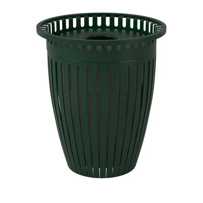 32 Gallon Tapered Crown Trash Receptacle with Flared Top - Image 2