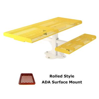 6' and 8' Rolled Picnic Table, ADA - Portable, Surface and Inground Mount - Image 2