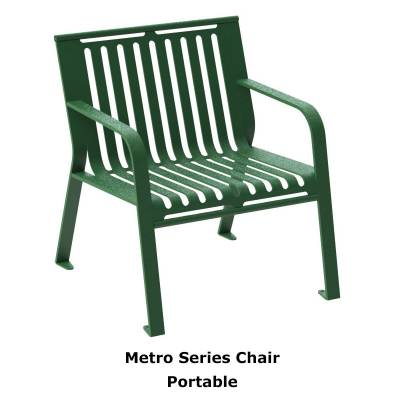 Picnic Tables - Patio Tables and Seating - Metro Style Chair - Portable/Surface Mount