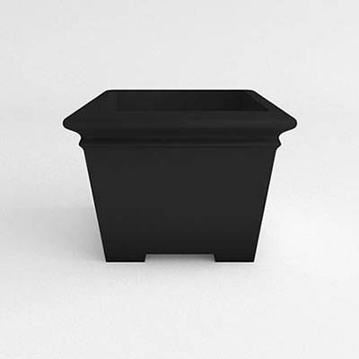 Square Footed Resin Planter - Image 1