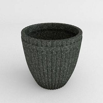 Fluted Vase Resin Planter - Image 1