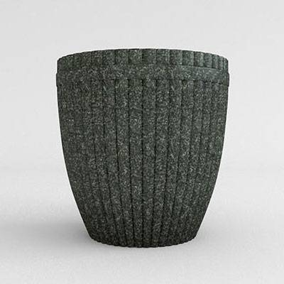 Fluted Vase Resin Planter - Image 2