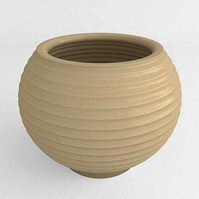 Grooved Resin Planter - Image 1