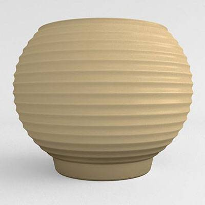 Grooved Resin Planter - Image 2