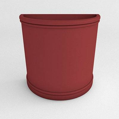 Miscellaneous - Commercial Planters - Half Round Resin Planter