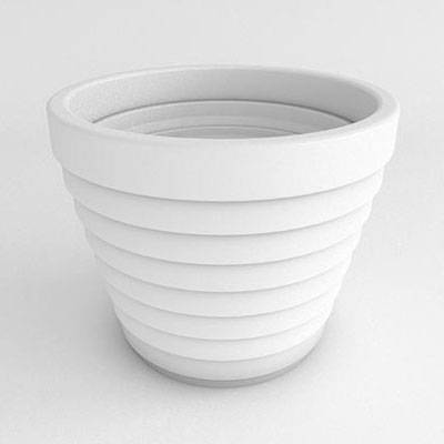 Step Round Resin Planter - Image 1