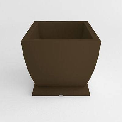 Square Pedestal Resin Planter - Image 1
