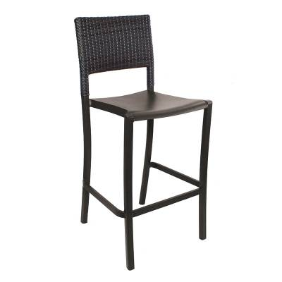 Grosfillex Patio Furniture - Bar Tables & Chairs - Java Wicker Armless Barstool