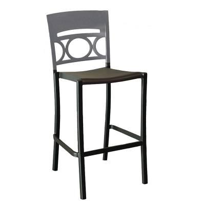 Grosfillex Patio Furniture - Bar Tables & Chairs - Moon Armless Stacking Barstool