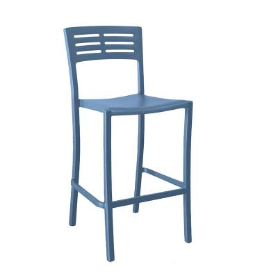 Grosfillex Patio Furniture - Bar Tables & Chairs - Vogue Armless Stacking Barstool