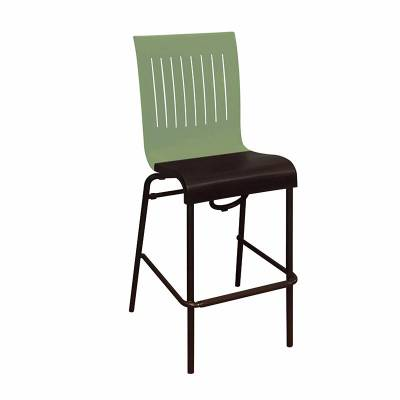 Grosfillex Patio Furniture - Bar Tables & Chairs - Viva Armless Stacking Barstool