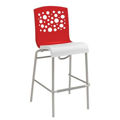 Grosfillex Patio Furniture - Bar Tables & Chairs - Tempo Armless Stacking Barstool