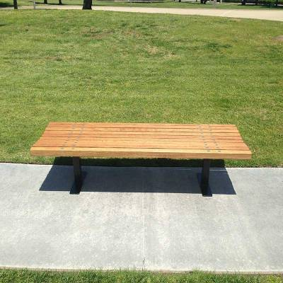 4', 5', 6' and 8' Boulevard Backless Bench - Portable/Inground/Surface Mount. - Image 2